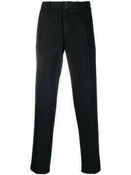 Incotex slim-cut cotton-blend trousers - Blue