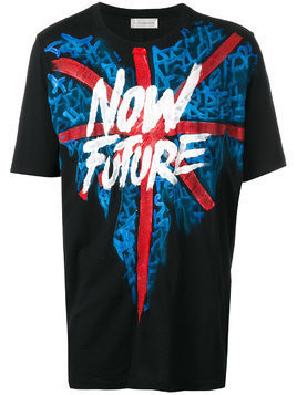 Faith Connexion hand-painted Now Future T-shirt - Black