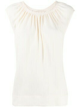 Marni sleeveless ruched blouse - White