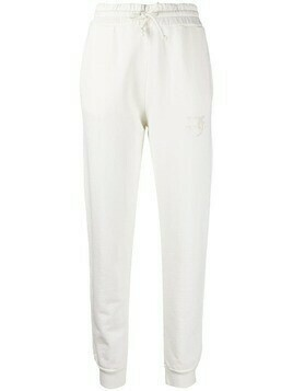 Pinko embroidered-logo track trousers - White