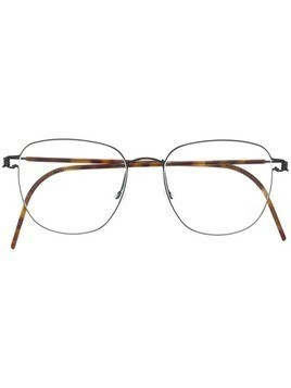 Lindberg round frame optical glasses - Brown