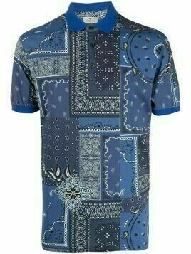 Etro patchwork bandana polo shirt - Blue