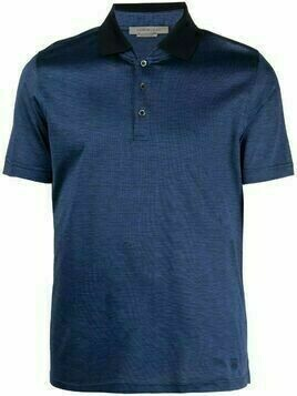 Corneliani short-sleeved cotton polo shirt - Blue