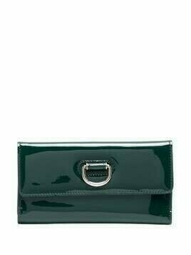 Burberry foldover patent leather wallet - Green