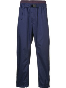 3.1 Phillip Lim Double-waistband track pants - Blue