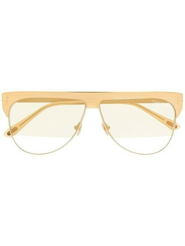 Tom Ford Eyewear tinted shield sunglasses - GOLD