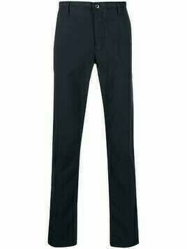Incotex straight-leg cotton trousers - Blue