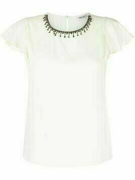 LIU JO crystal embellished blouse - White