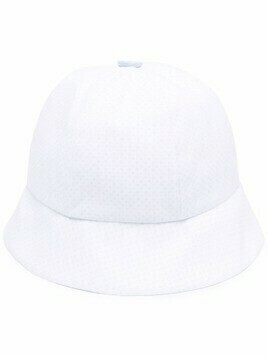 La Stupenderia polka-dot bucket hat - White