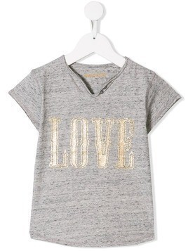 Zadig & Voltaire Kids Love print T-shirt - Grey