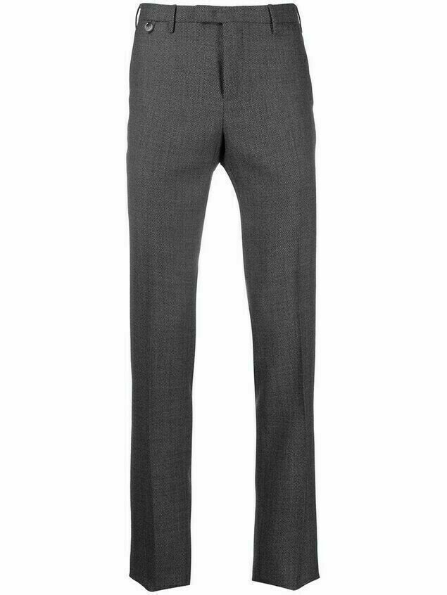 Pt01 slim-fit wool trousers - Grey