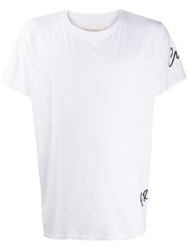 Greg Lauren logo print T-shirt - White