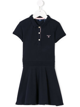 Gant Kids - logo polo dress - Kinder - Cotton/Spandex/Elastane - 12 yrs - Blue