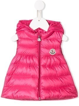 Moncler Kids hooded padded gilet - Pink