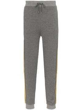 Lot78 side stripe sweatpants - Grey
