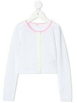 Billieblush contrast-trim cardigan - White