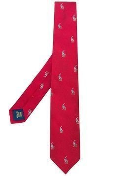 Ralph Lauren Kids logo print tie - Red