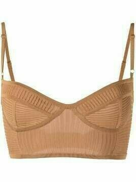 Dodo Bar Or ribbed bralette - Brown