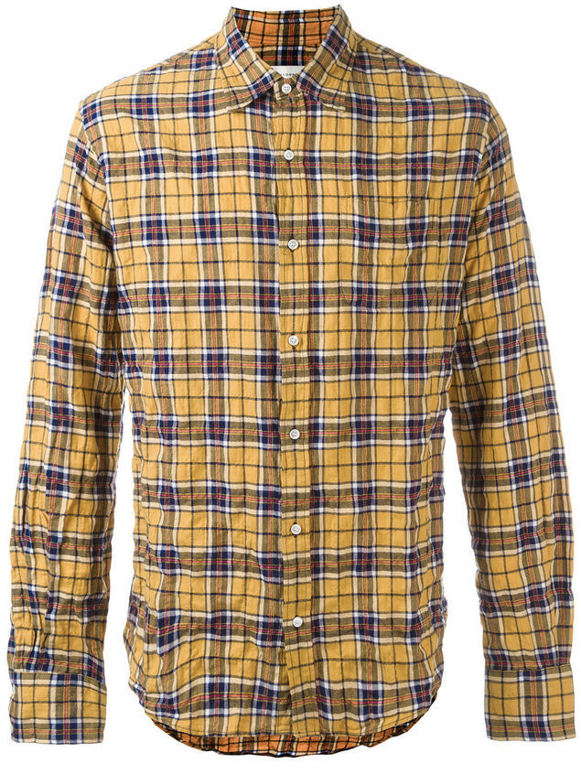 Faith Connexion plaid shirt - Yellow