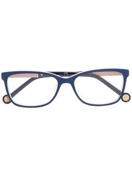 Ch Carolina Herrera square frame glasses - Blue