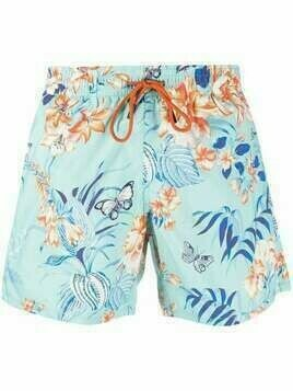 Etro floral swim shorts - Blue
