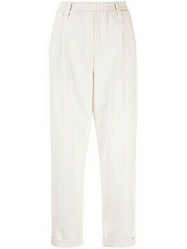 Brunello Cucinelli cropped straight-leg trousers - Neutrals