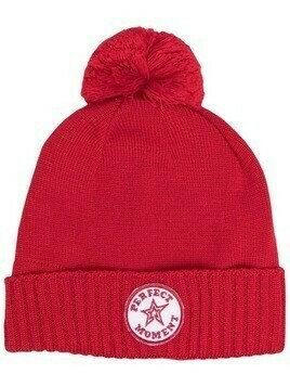 Perfect Moment pompom beanie hat - Red