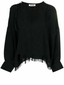 Aeron frayed hem blouse - Black