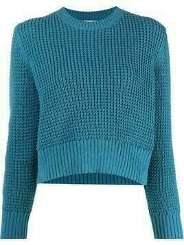 Rachel Comey chunky-knit cropped jumper - Blue