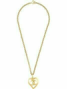 Chanel Pre-Owned CC heart pendant necklace - GOLD