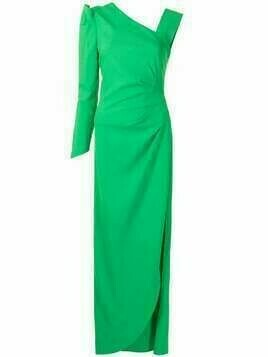 Ginger & Smart Vortex asymmetric one-shoulder gown - Green