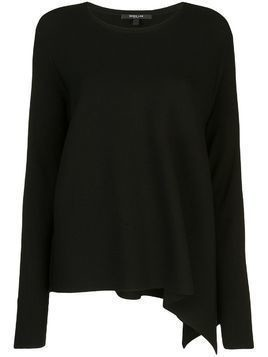 Derek Lam Long Sleeve Asymmetrical Knit Pullover - Black