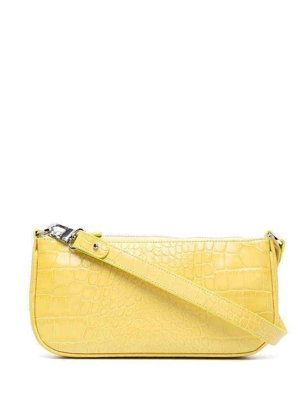 BY FAR Rachel croco embossed bag - Yellow