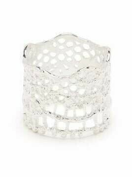 Aurelie Bidermann Lace-look thick-band ring - Silver