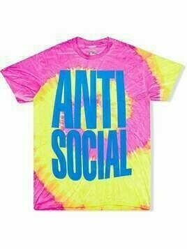 Anti Social Social Club Heatwave tie-dye T-shirt - Pink