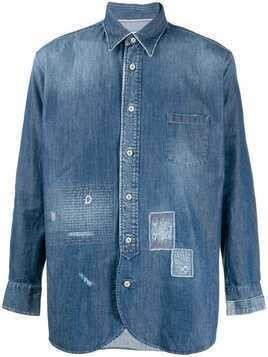 Al Duca D'Aosta 1902 distressed detail denim shirt - Blue