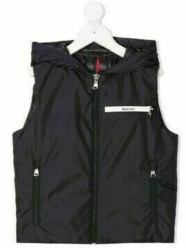 Moncler Enfant padded hooded gilet - Blue