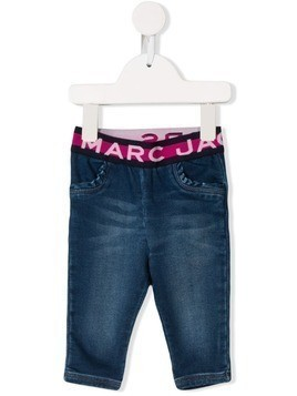 Little Marc Jacobs logo waistband jeans - Blue