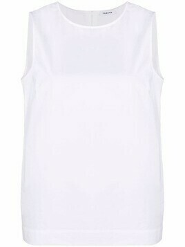 P.A.R.O.S.H. cotton sleeveless blouse - White