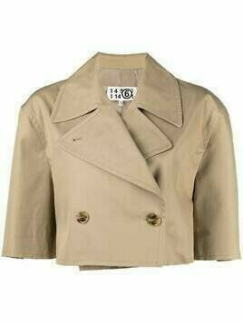 MM6 Maison Margiela cropped double-breasted blazer - Neutrals