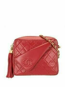 Chanel Pre-Owned 1985-1993 flap tassel camera bag - Red