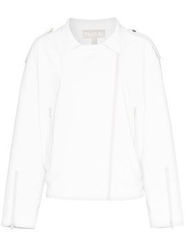 Paskal reflective faux leather jacket - White