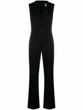 Thierry Mugler Pre-Owned cut-out wool jumpsuit - Black