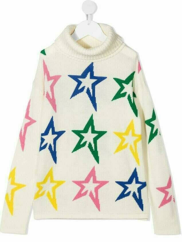 Perfect Moment Kids star-prit knitted jumper - Neutrals
