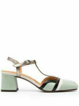 Chie Mihara T-bar leather sandals - Green
