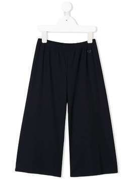 Il Gufo logo detail trousers - Blue