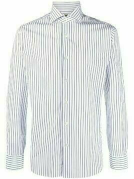 Barba pinstripe button-down shirt - White