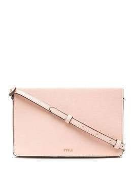 Furla zip-up leather shoulder bag - PINK