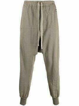 Rick Owens DRKSHDW drop-crotch track pants - Brown