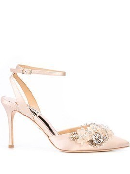 Badgley Mischka embellished Alice pumps - Neutrals